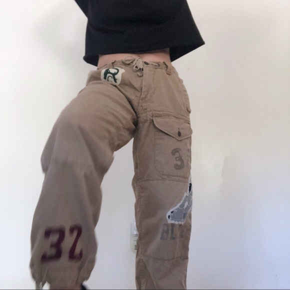 Polo Lauren Cargo Vintage Pants Ralph With Patches 4R5AjL